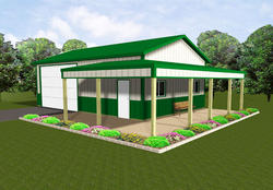 24'W x 36'L x 11'H Agricultural With 9' Porch
