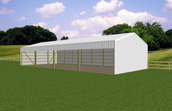 30'W x 60'L x 12'H Loafing Shed