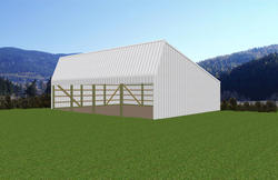 30'W x 40'L x 10'H Loafing Shed