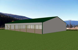 60'W x 104'L x 16'H Loafing Shed