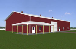 60'W x 88'L x 16'H Agricultural With 8' Wrap Around Porch
