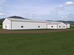 40'W x 135'L x 14'H Agricultural Tie-In Building with 30'W x 27'L x 10'H
