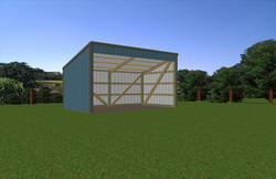 10'W x 18'L x 7'H Open Sided Shed