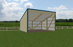 16'W x 18'L x 7'H Open Sided Shed