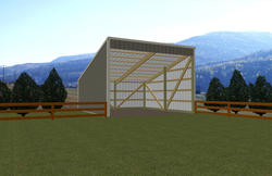 20'W x 18'L x 7'H Open Sided Shed