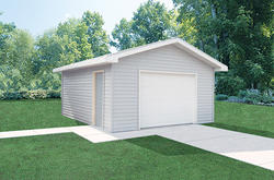 16'W x 24'L x 8'H Garage with Steel Roof