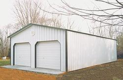 24'W x 36'L x 10'H Garage with Steel Roof