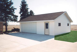 26'W x 30'L x 9'H Garage with Steel Roof