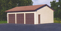 26'W x 32'L x 9'H Garage with Shingled Roof