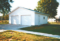 24'W x 24'L x 8'H Garage with Shingled Roof