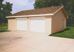 24'W x 32'L x 8'H Garage with Shingled Roof