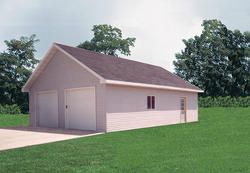 26'W x 36'L x 9'H Garage with Shingled Roof