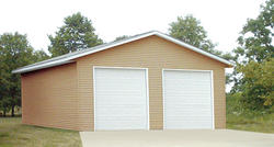 26'W x 32'L x 12'H Garage with Steel Roof