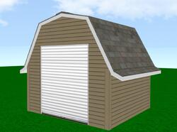 Midwest Manufacturing E-Z Build 12'W x 20'D Gambrel Storage Building