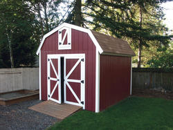 The Rasmussen 10'W x 12'D Gambrel Shed