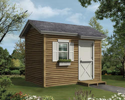 The Blaine 8'W x 12'D Gable Storage Shed