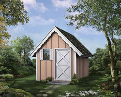 The Limmerick 8'W x 12'D Playhouse Shed