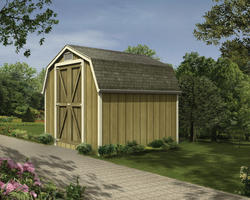 The Norris 8'W x 8'D Mini Barn Shed
