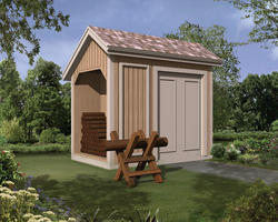 The Ruralspring 6'W x 10'D Log Storage Shed