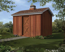 The Birgitta 10'W x 12'D Gable Storage Shed