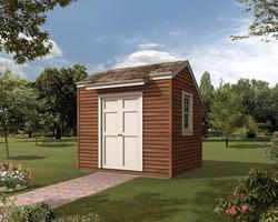 The Monaca 10'W x 8'D Saltbox Storage Shed
