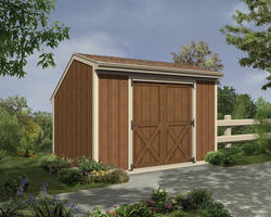 The Monessen 8'W x 8'D Saltbox Storage Shed