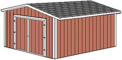 Midwest Manufacturing 10'W x 12'D Gable Storage Building with Wood Door