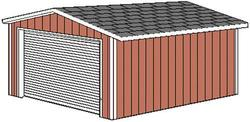 Midwest Manufacturing 10'W x 16'D Gable Storage Building with Roll-Up Door