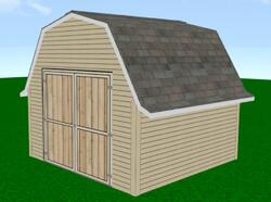 Midwest Manufacturing E-Z Build 12'W x 16'D Gambrel Shed