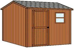 Midwest Manufacturing EZ Build 10'W x 14'D Gable Tool Storage Building