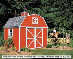 Handy Home Berkley 10'W x 10'D Precut Shed