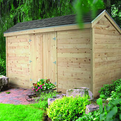 Midwest Manufacturing EZ Build 8'W x 12'D Garden Storage Shed
