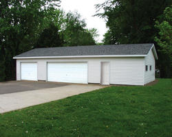 24' x 48' x 8' 3-Car Garage with Storage