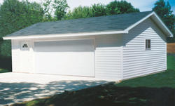 24' x 28' x 8' 2-Car Low Maintenance Standard Garage