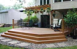 20' x 12' Elevated Patio Deck w/ Wide Stairs