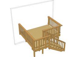 10' x 10' Single Level Deck