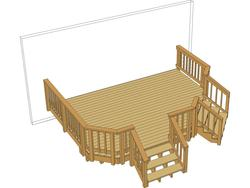 16x12 Angled Deck