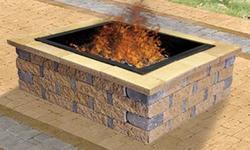"""56"""" Square Crestone Fire Pit"""
