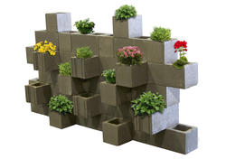 Construction Block Planter Wall