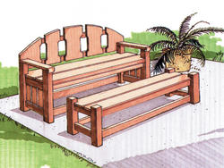 Leisure Bench with Table