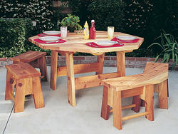 Octagon Table Set