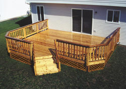 16' x 20' Leisure Deck w/ Unique Angled Stairs