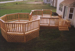 16' x 16' Deck w/ 12' Step-Up Octagon and Grill Bump-Out