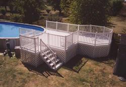16' x 16' Pool Deck w/ 12' Octagon (Fits Most Pools)