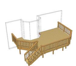 22' x 14' Deck w/ Angled Corners