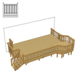 22' x 14' Deck w/ Extended Bay and Architectural Spindles