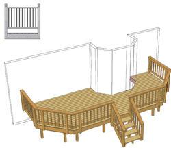 24' x 10' Deck w/ Angled Corners