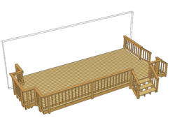24' x 12' Deck w/ Grill Bump-Out