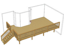 24' x 14' Single Level Deck