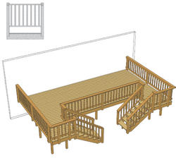 24' x 15' Deck w/ Two Stairs